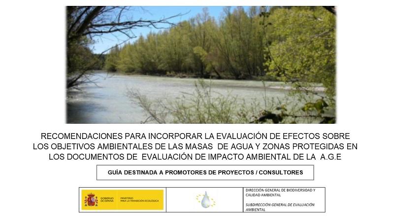 Evaluación de efectos sobre los objetivos ambientales de las masas de agua y zonas protegidas